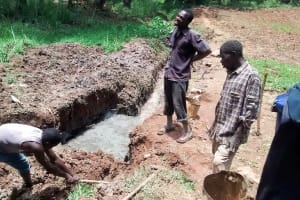 The Water Project: Bumavi Community, Esther Spring -  Spring Foundation