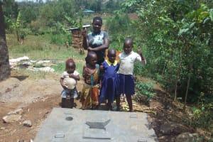 The Water Project: Shiyunzu Community, Imbukwa Spring -  Sanitation Platform