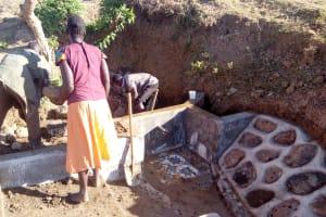 The Water Project: Musango Community, Ham Mwenje Spring -  Spring Construction