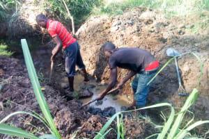 The Water Project: Sharambatsa Community, Mihako Spring -  Spring Excavation