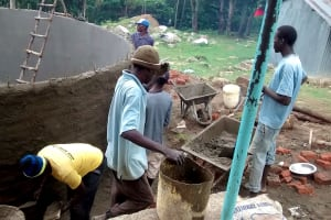 The Water Project: Lihanda Secondary School -  Tank Construction