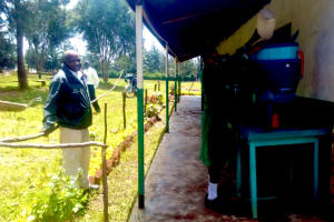 The Water Project: Erusui Girls Primary School -  Filling The Container