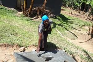 The Water Project: Bukhunyilu Community, Solomon Wangula Spring -  Sanitation Platform