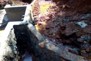 The Water Project: Shilakaya Community, Shanamwevo Spring -  Spring Protection Construction