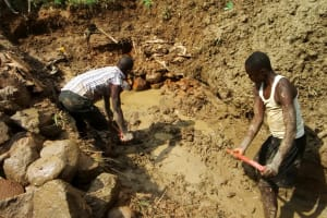 The Water Project: Ivulugulu Community, Ishangwela Spring -  Excavation