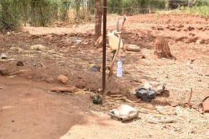 The Water Project: Karuli Community E -  Muimi Handwashing Station
