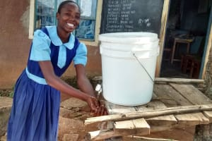 The Water Project: Shamalago Primary School -  Hand Washing Station