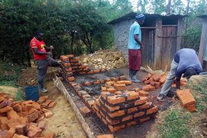 The Water Project: Shanjero Secondary School -  Latrine Construction