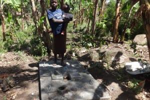 The Water Project: Shitungu Community, Omar Rashid Spring -  Sanitation Platform