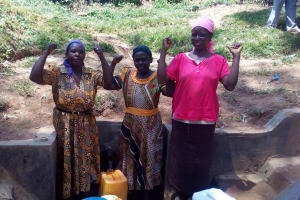 The Water Project: Maganyi Community, Bebei Spring -  Clean Water