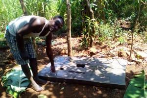 The Water Project: Mwichina Community, Mwichina Spring -  Sanitation Platform
