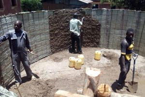 The Water Project: Esibeye Primary School -  Tank Construction