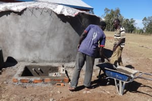 The Water Project: Bukhubalo Primary School -  Tank Construction