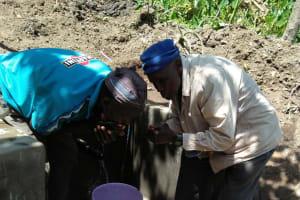 The Water Project: Bukhunyilu Community, Solomon Wangula Spring -  Clean Water