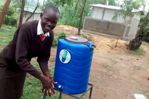 The Water Project: Lihanda Secondary School -  Esther Kageha At The New Handwashing Station