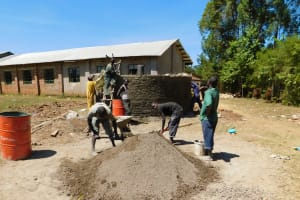 The Water Project: Bushili Secondary School -  Tank Construction