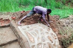 The Water Project: Bumavi Community, Esther Spring -  Spring Construction