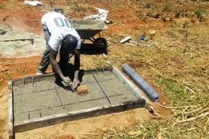 The Water Project: Sharambatsa Community, Mihako Spring -  Sanitation Platfrom Construction