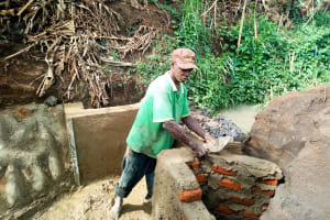 The Water Project: Esembe Community, Chera Spring -  Spring Protection Construction