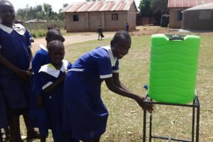 The Water Project: Bukhubalo Primary School -  Hand Washing Station