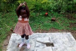 The Water Project: Elukani Community, Ongari Spring -  Sanitation Platform