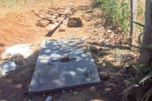 The Water Project: Sharambatsa Community, Mihako Spring -  Sanitation Platform Construction