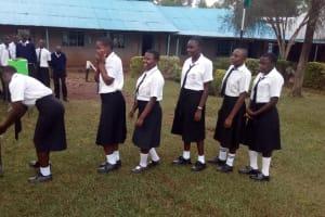 The Water Project: Shanjero Secondary School -  Handwashing Station