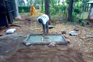 The Water Project: Shilakaya Community, Shanamwevo Spring -  Sanitation Platform Construction