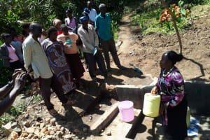 The Water Project: Bukhunyilu Community, Solomon Wangula Spring -  Spring Management Training