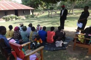 The Water Project: Shitungu Community, Omar Rashid Spring -  Training