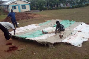 The Water Project: Esibeye Secondary School -  Working On The Dome
