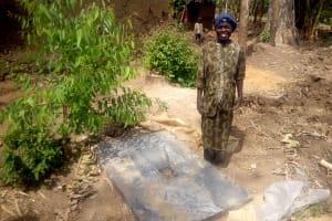 The Water Project: Musango Community, Dawi Spring -  Sanitation Platform