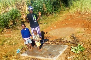 The Water Project: Sharambatsa Community, Mihako Spring -  Sanitation Platform