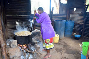 The Water Project: Kyulungwa Primary School -  Kitchen Where School Lunch Is Cooked