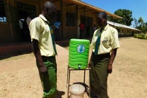 The Water Project: Bushili Secondary School -  Handwashing Station