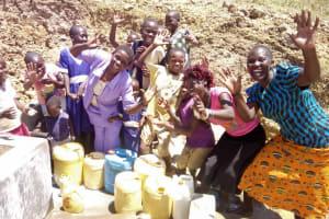 The Water Project: Musango Community, Ham Mwenje Spring -  Clean Water