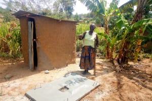 The Water Project: Esembe Community, Chera Spring -  Sanitation Platform