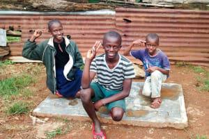 The Water Project: Bumavi Community, Esther Spring -  Sanitation Platform