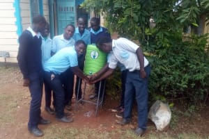 The Water Project: Esibeye Secondary School -  Hand Washing Station