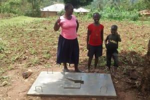 The Water Project: Ivulugulu Community, Ishangwela Spring -  Finished Sanitation Platform