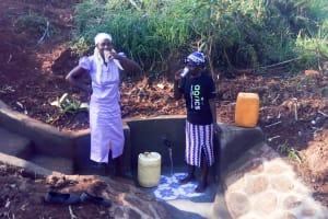 The Water Project: Sharambatsa Community, Mihako Spring -  Clean Water