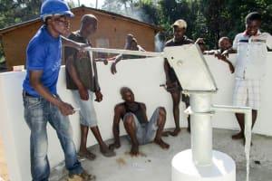 The Water Project: Kolia Community -  Pump Installation