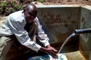 The Water Project: Elukani Community, Ongari Spring -  Mr Hezron Buchere