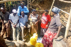 The Water Project: Esembe Community, Chera Spring -  Clean Water