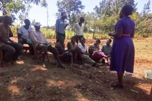 The Water Project: Sharambatsa Community, Mihako Spring -  Training
