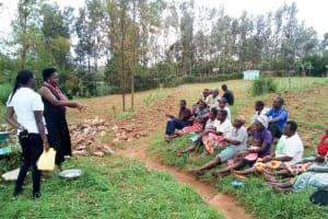 The Water Project: Ikonyero Community, Jesse Spring -  Handwashing Training