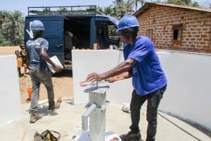 The Water Project: Sanya Community -  Pump Installation
