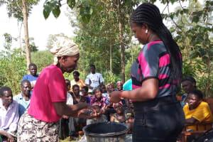 The Water Project: Mwichina Community, Mwichina Spring -  Handwashing Training