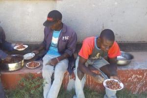 The Water Project: Shibale Secondary School -  Artisans On Lunch Break
