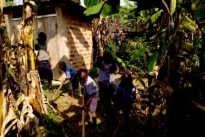 The Water Project: Imuliru Primary School -  Students Working On School Farm